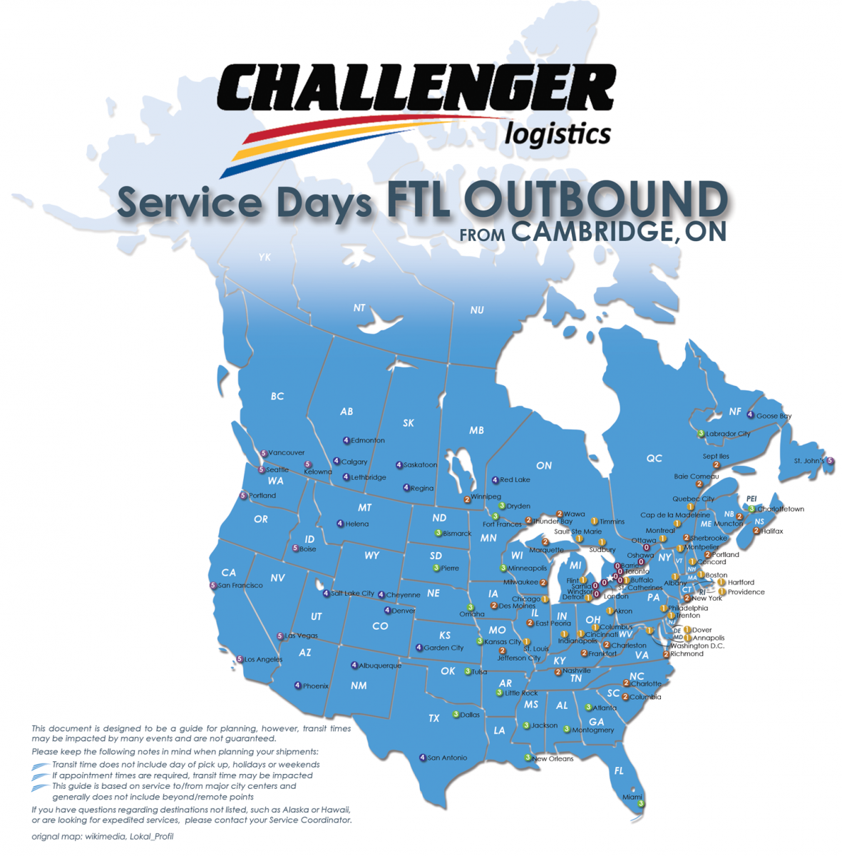 Ltl And Ftl Service Days Challenger