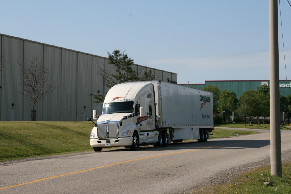 Challenger truck driving