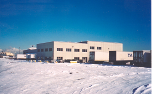 Truck terminal in British Columbia in winter