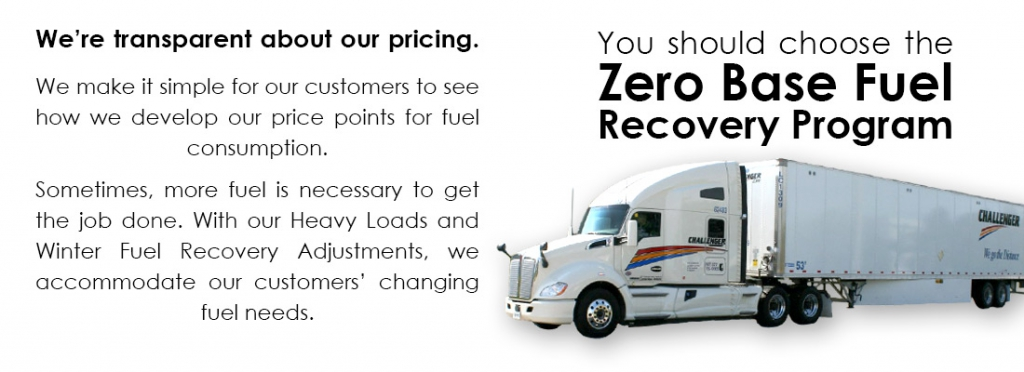 Zero Base Fuel Recovery Program - Transparency