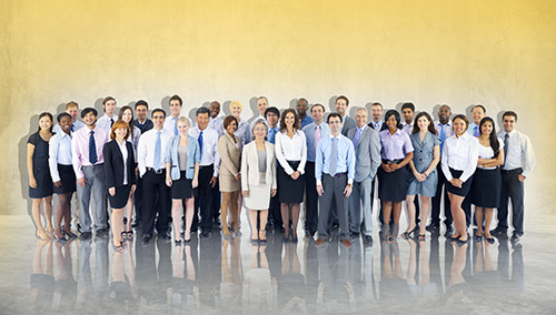 Group of corporate career employees