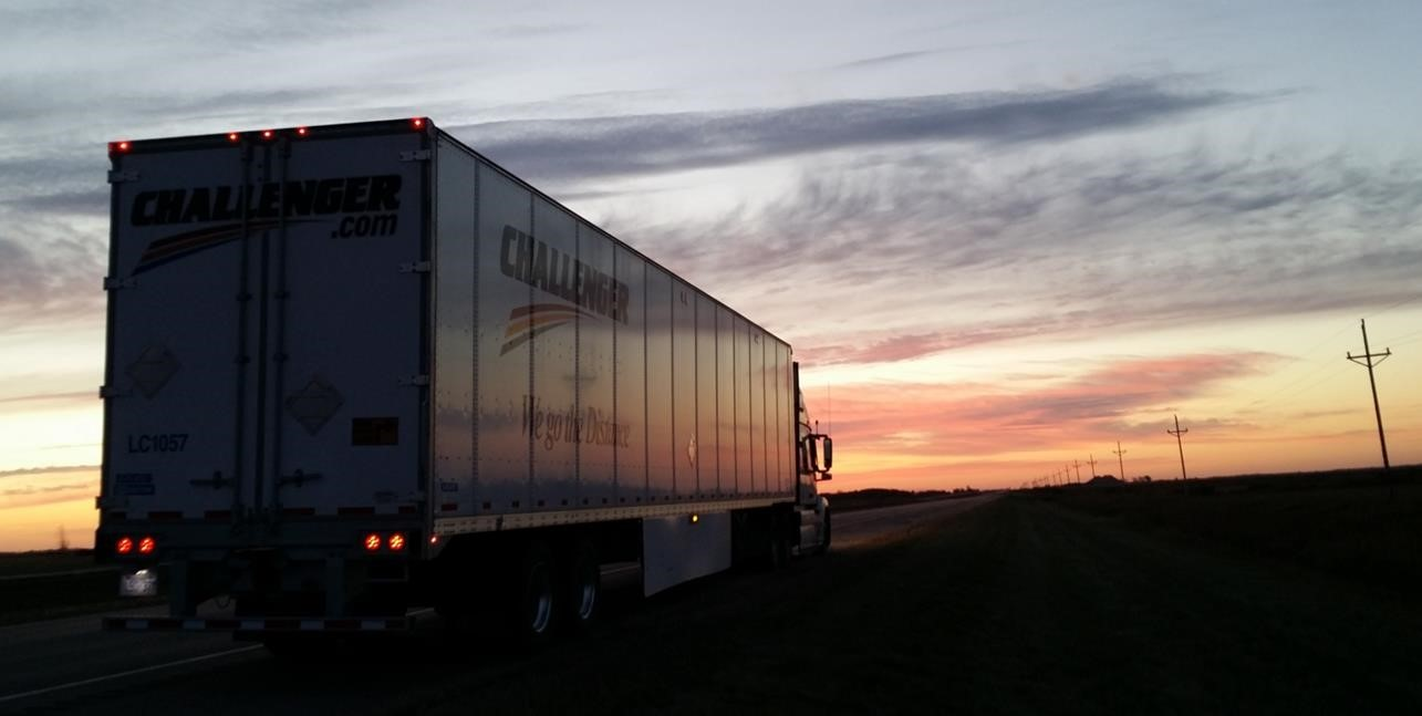At challenger we had our beginnings in 1975 as a trucking company admittedly long after the establishment of reliable roadways and superior