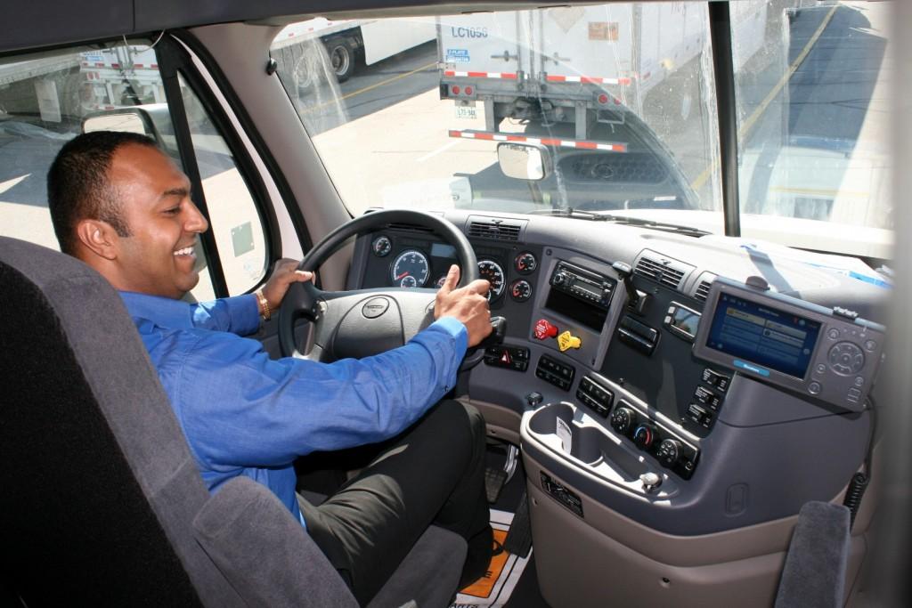 Driver in Truck
