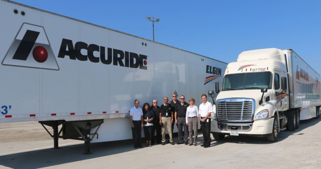 Elgin and Accuride co-branded trailers show recognition to the great standing and business commitments between these two companies.