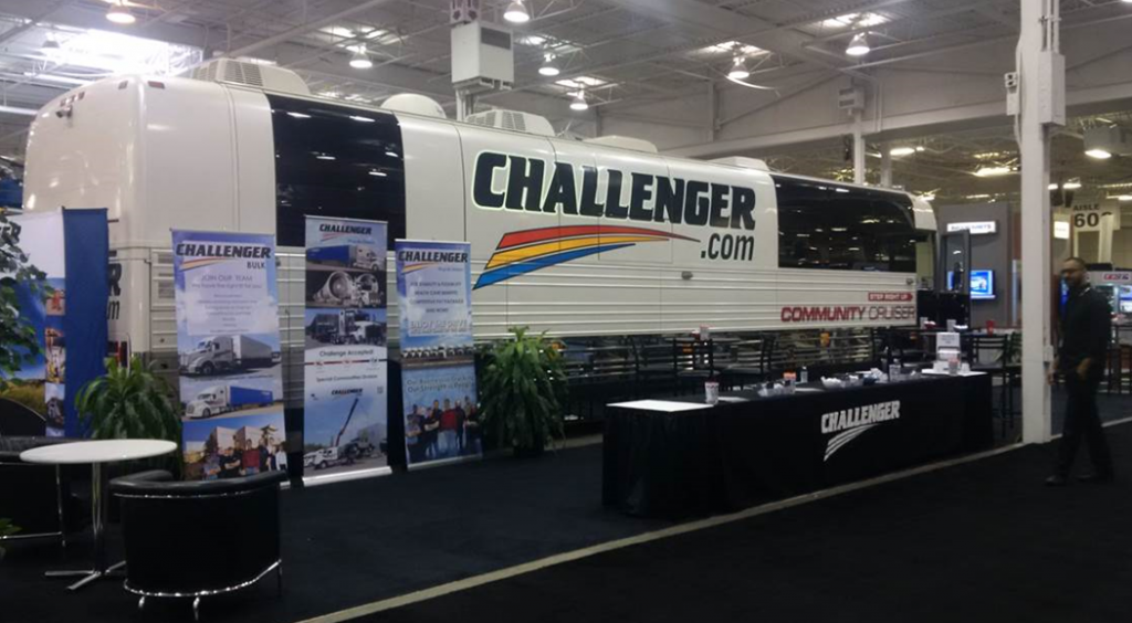 Challenger Motor Freight tradeshow recruiting booth